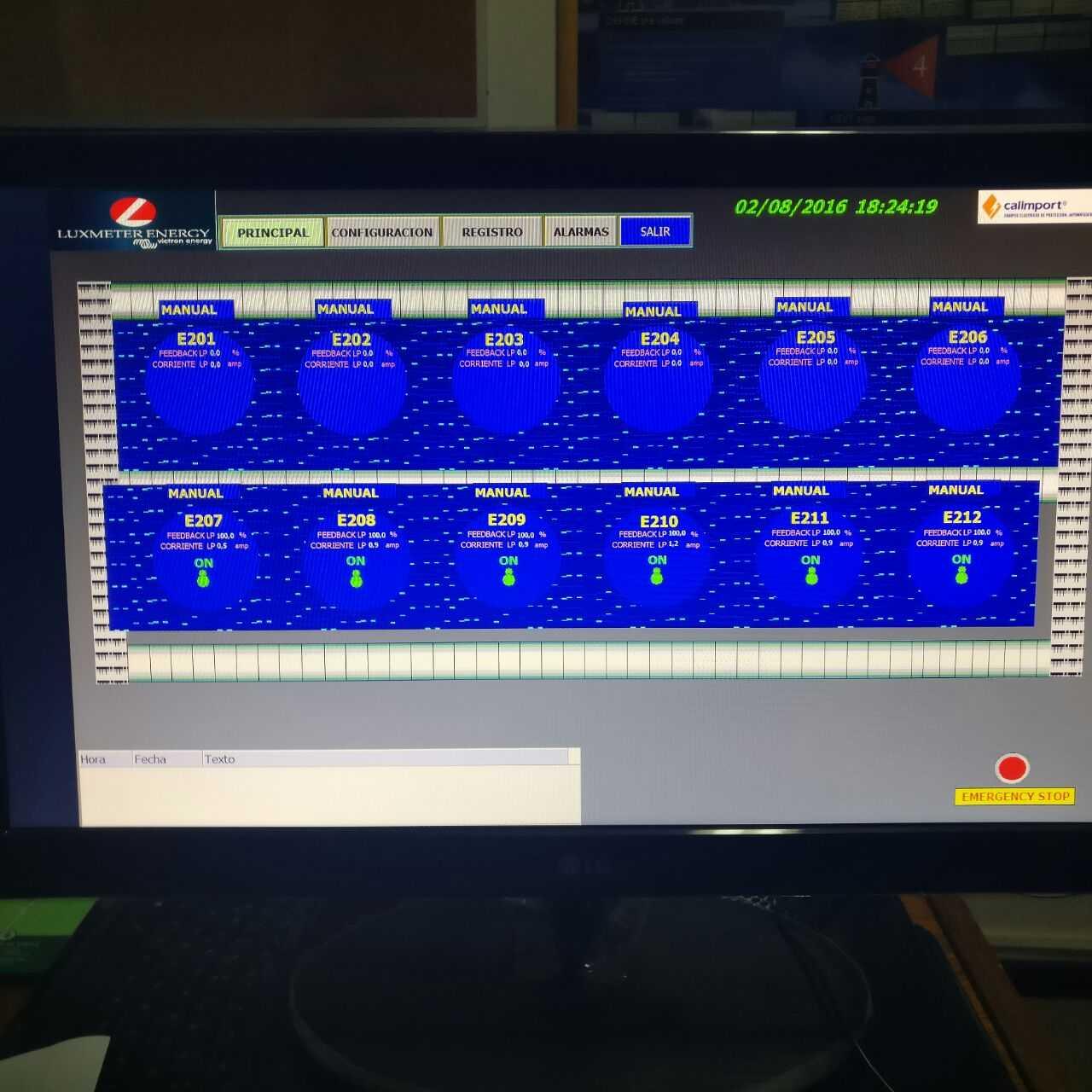 Control del sistema de fotoperiodo de Luxmeter
