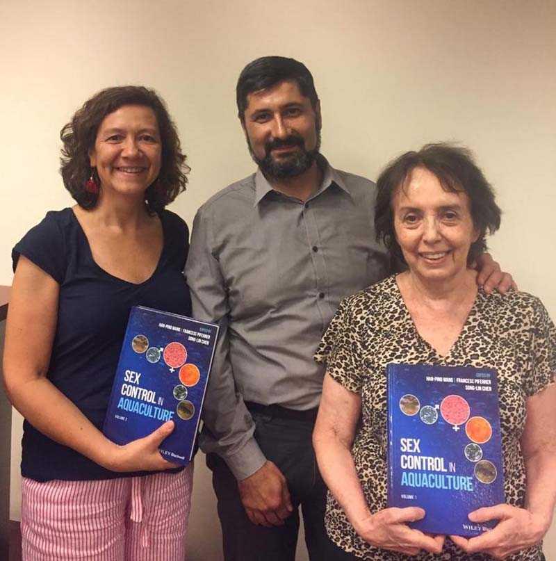 Académicos chilenos son parte de prestigioso libro sobre especies acuícolas (foto: UChile)