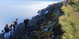 Salmonicultora participó de limpieza de playas en Porvenir