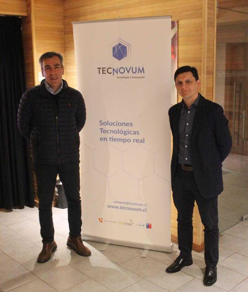 Christian Stange y Christian Schäfer, ejecutivos de AKVA group en encuentro acuícola 2050