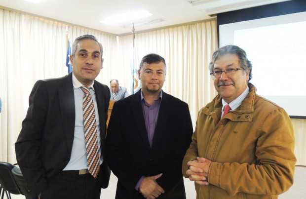 Roberto López, Rodrigo Poblete y Alfonso Silva