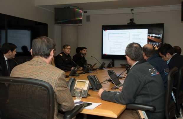 Reunión extraordinaria por trombas marinas y tornados (foto: Armada de Chile)
