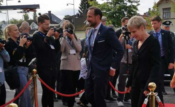Llegada del príncipe Haakon Magnus