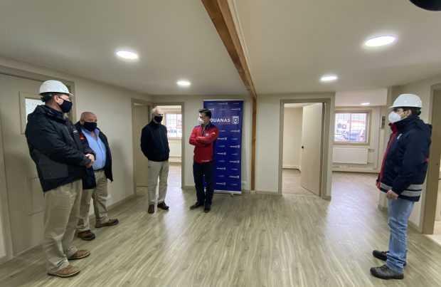 Empormontt entrega mejoramiento de oficinas para funcionarios de Aduanas