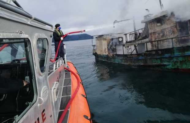 Trabajadores del salmón apoyaron en emergencia marítima