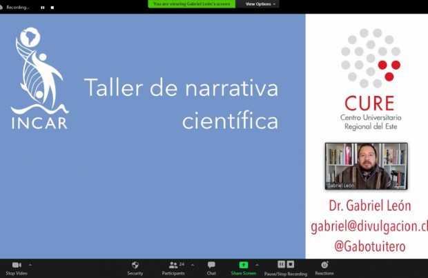 Investigadores de los centros CURE e INCAR participaron en taller sobre vinculación y divulgación científica