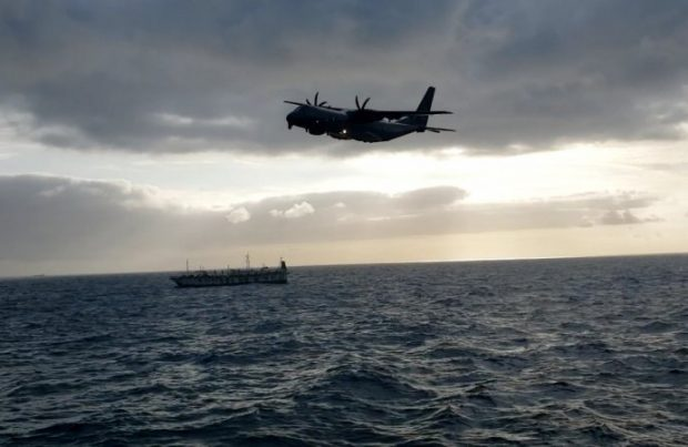 Sernapesca: Flota china concluyó su navegación frente a las costas chilenas sin incumplimientos (foto Armada de Chile)