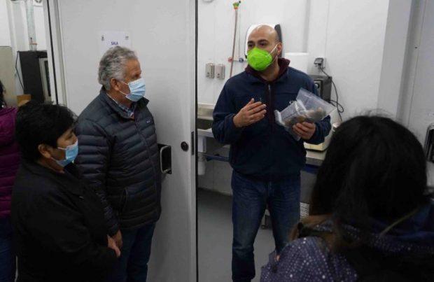 Alcalde de Dalcahue conoció sala de procesos de productos del mar en dependencias de Fundación Chinquihue